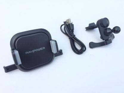 Bộ sạc điện thoại không dây ô tô Ravpower SH008