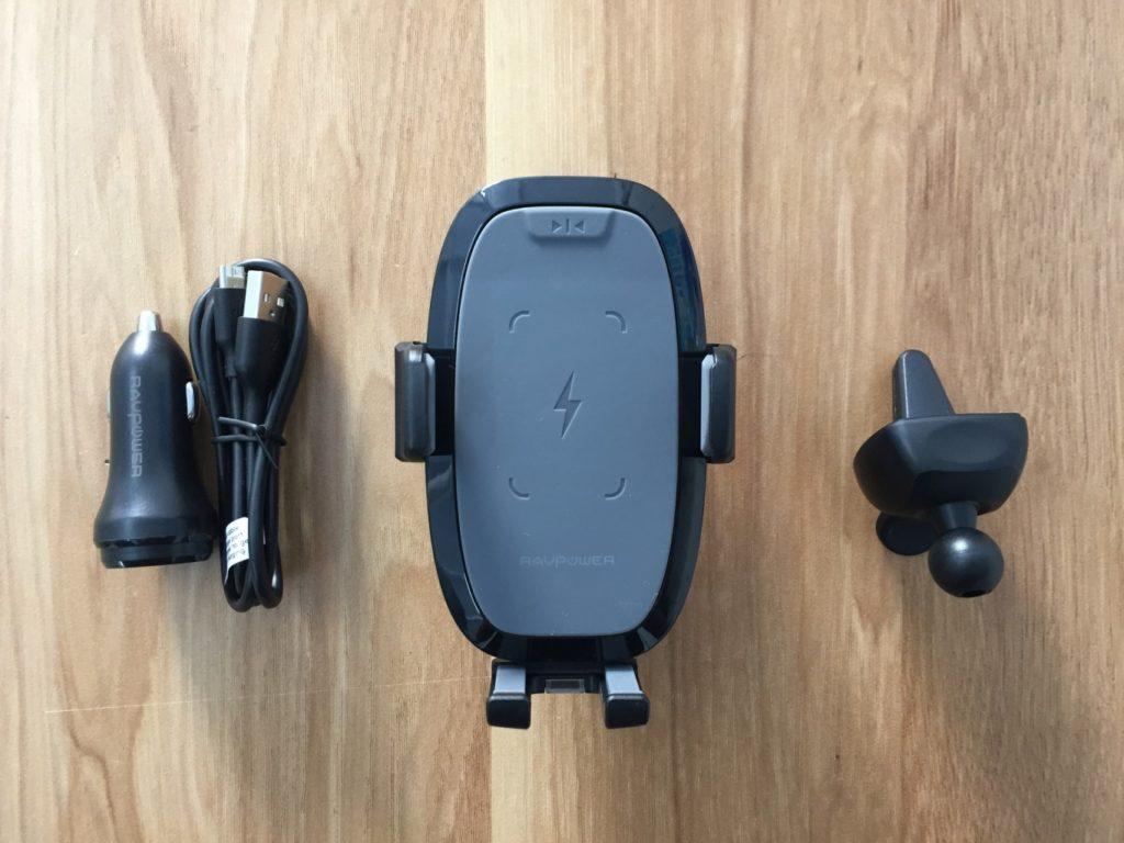 Giá đỡ điện thoại trên ô tô tự động kèm sạc không dây