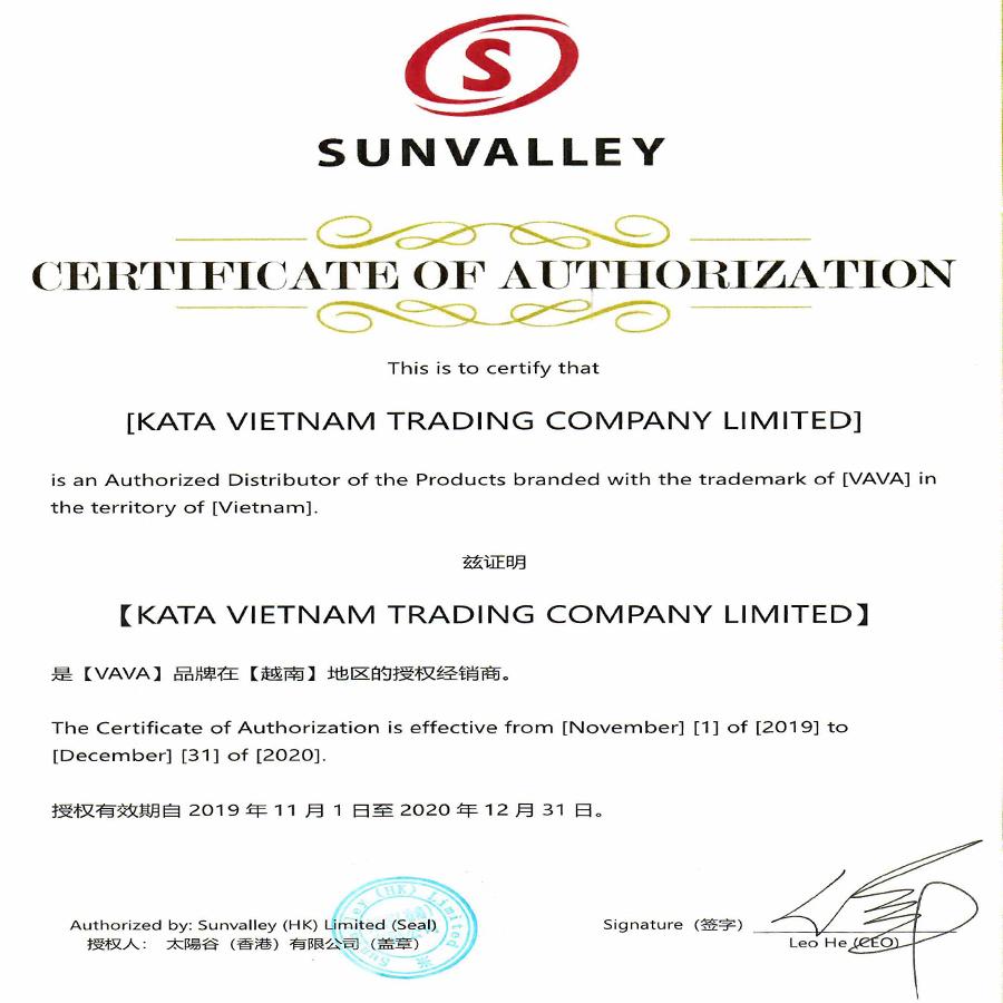 Chứng nhận KATA phân phối VAVA Dash Cam