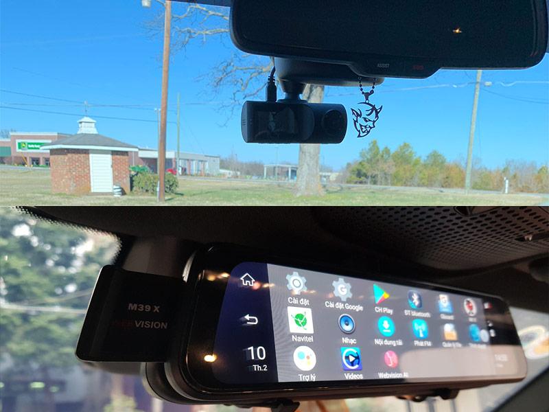 Webvison M39X AI và VAVA Dash Cam Dual 2K