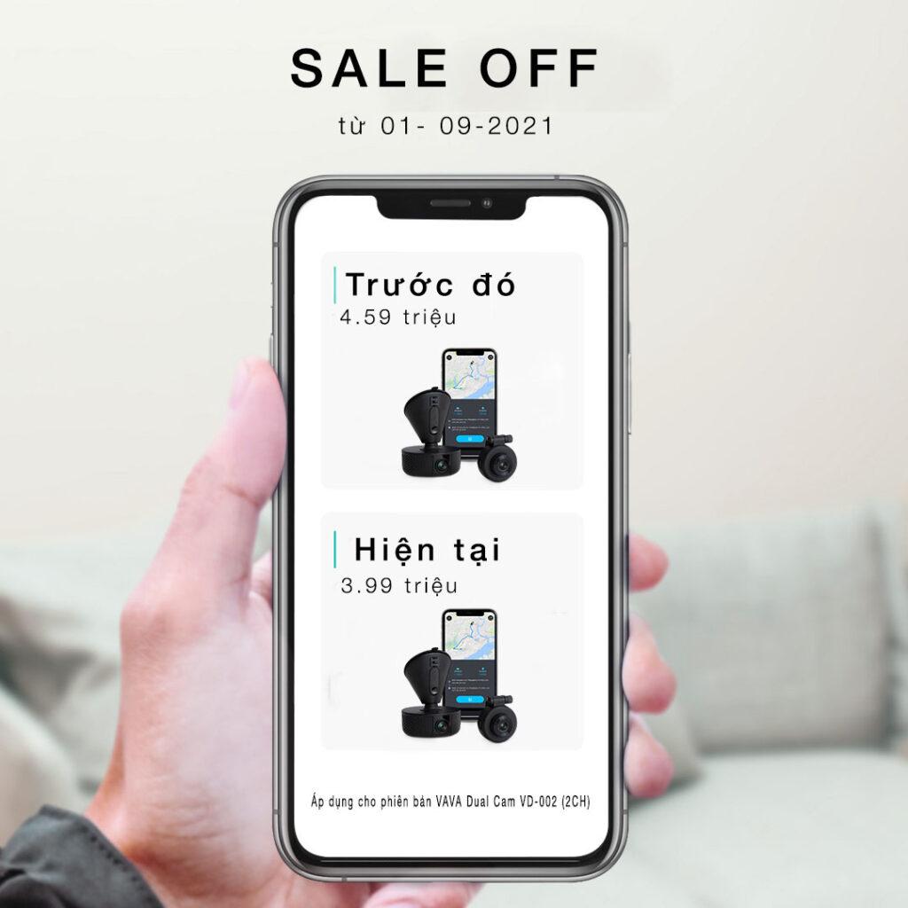 VAVA Dual Dash Cam ưu đãi tháng 9/2021
